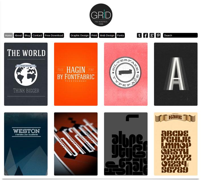 WordPress Theme Grid Responsive - Übersicht